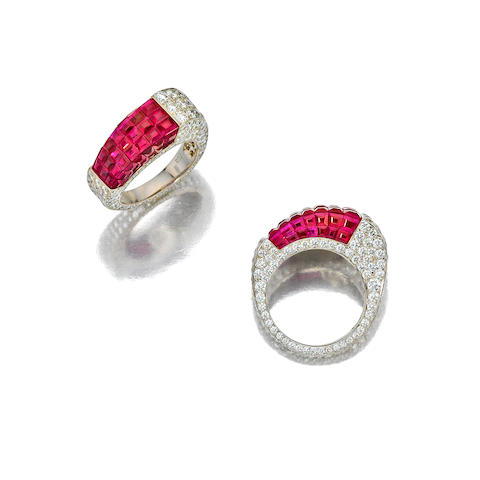 A ruby and diamond ring, Aletto Brothers