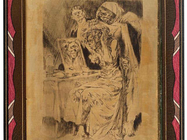 LOBEL-RICHE, ALMÉRY. French, 1877-1950. POE, EDGAR ALLAN. Vingt histoires extraordinaires. Paris: Le Livre de Plantin, 1927.