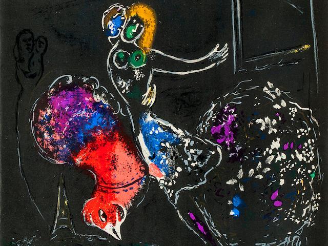 CHAGALL, MARC. Russian/French, 1887-1985. Derrière le Miroir. Paris: Maeght Éditeur, 1954. Nos 66-67-68.