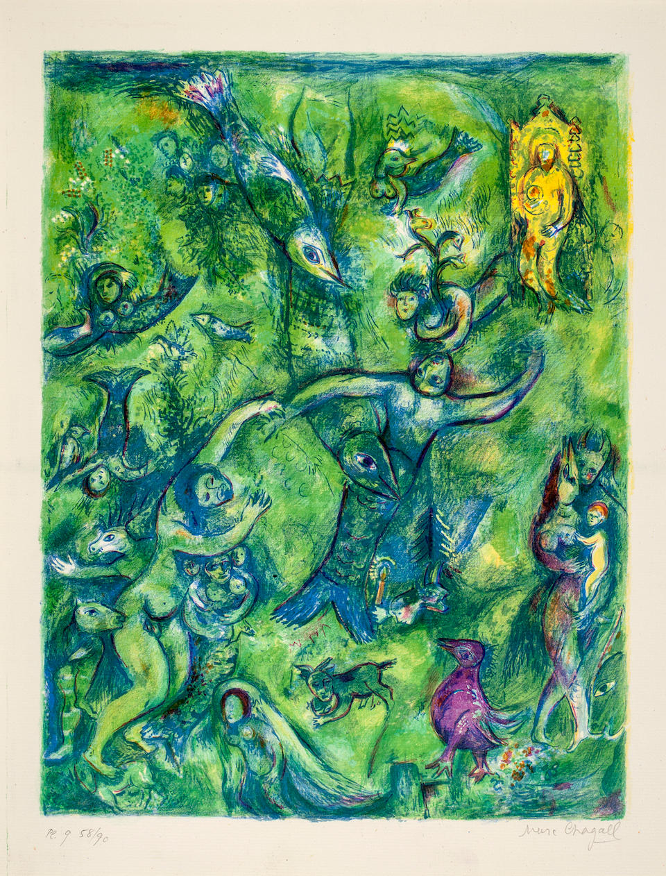 CHAGALL, MARC. RUSSIAN/FRENCH, 1887-1985. Four Tales from the Arabian Nights. New York: Pantheon Books, [1948].