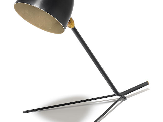 Serge Mouille Cocotte table lampcirca 1957, for Atelier Serge Mouille, enameled aluminum, steel and brassheight 13 3/4in (35cm)