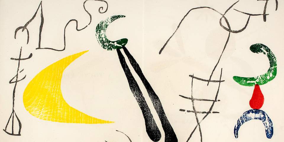 MIRÓ, JOAN. Spanish, 1893-1983. ÉLUARD, PAUL. À toute épreuve. Geneva: Gérald Cramer, 1958.