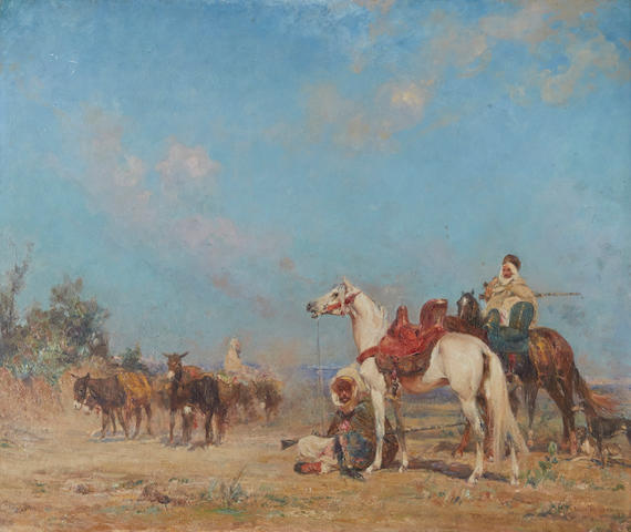 Henri Emilien Rousseau (French, 1875-1933) A caravan at rest 18 1/8 x 21 5/8in (46 x 55cm)