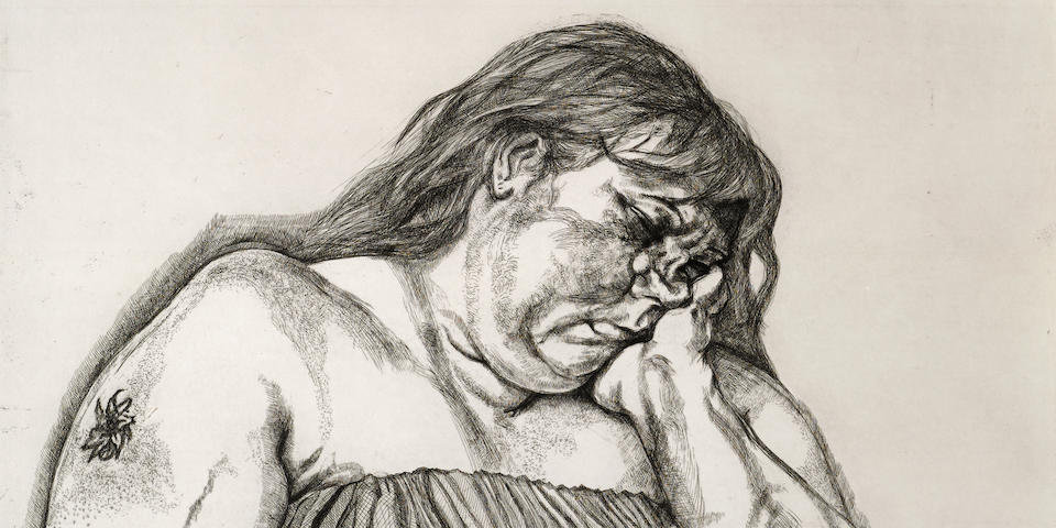 Lucian Freud (1922-2011); Woman with an Arm Tattoo;