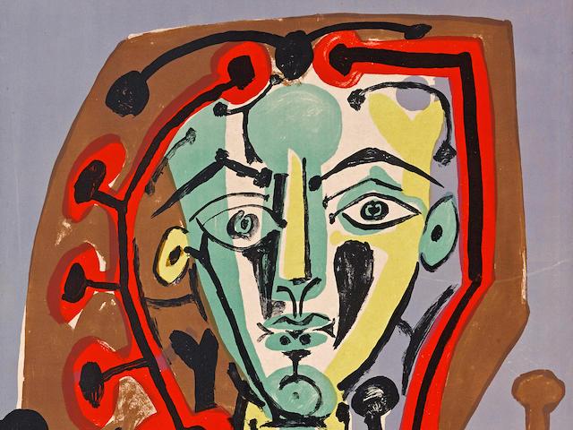 Pablo Picasso (1881-1973); Figure au Corsage Rayé;