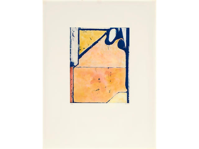 Richard Diebenkorn (1922-1993); Blue Loop, from Eight Color Etchings;
