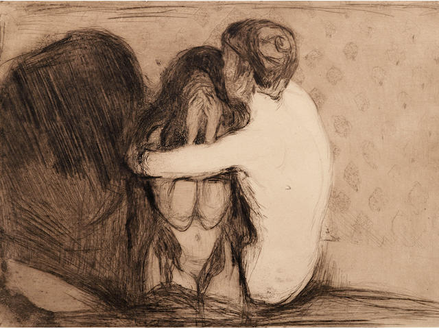 Edvard Munch (1863-1944); Consolation;