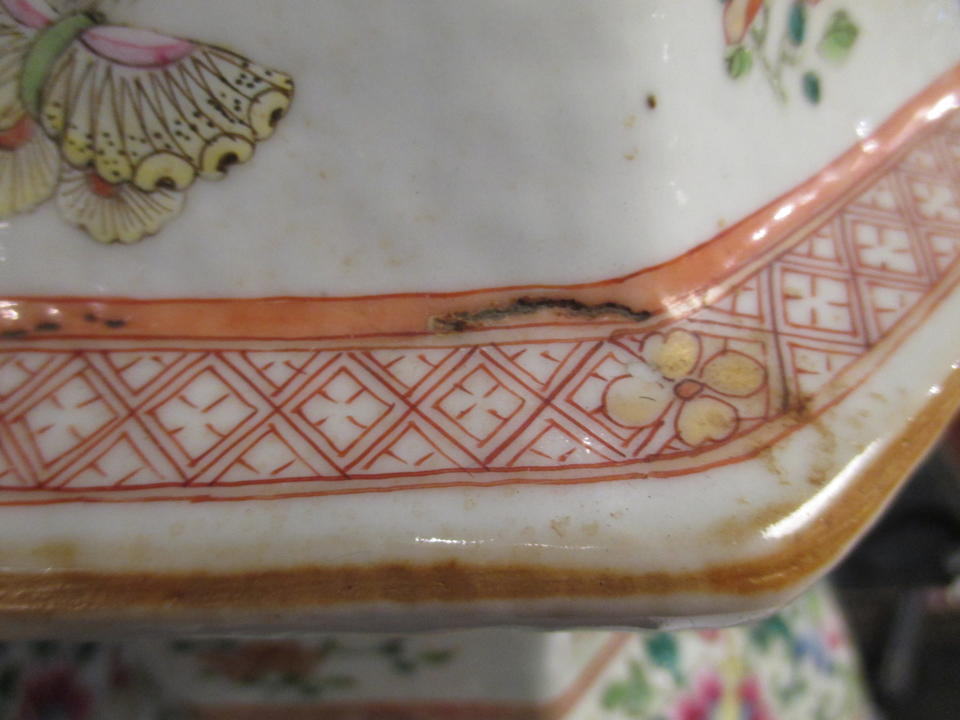 A famille rose enameled porcelain vase decorated with flowers