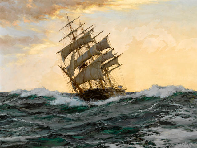 Montague Dawson (British, 1890-1973) Bird of dawn - the 'Sir Lancelot' 28 x 42 1/4in (71.1 x 107.3cm)