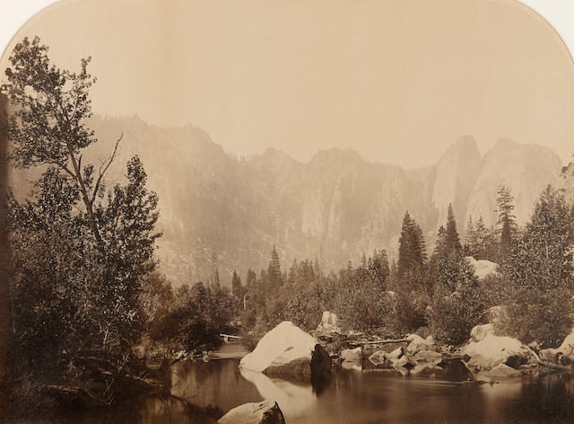 Carleton E. Watkins (1829-1916); View on the Merced, Yosemite;