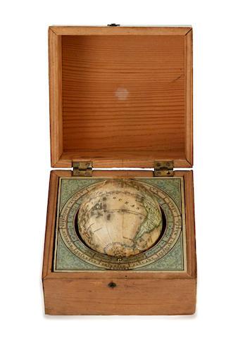 MINIATURE GLOBE; KLINGER, J.G. The Earth. Nuremberg: J.G. Klinger, c.1850.