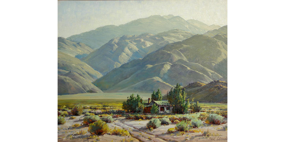 Paul A. Grimm (American, 1891-1974) Desert adobe 20 x 24in
