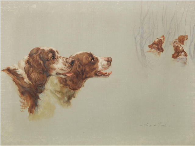 Maud Earl (British, 1864-1943) Red Rovers 18 x 24 in. (46 x 61cm.)