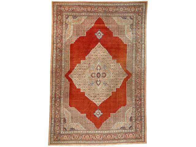 A Tabriz carpet  Northwest Persia size approximately 11ft. 6in. x 16ft. 5in.