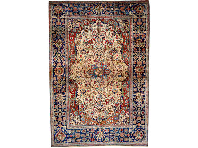 A Mohtasham Kashan rug Central Persia size approximately 4ft. 8in. x 6ft. 9in.