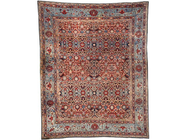 A Kashan carpet  Central Persia size approximately 12ft. x 15ft.