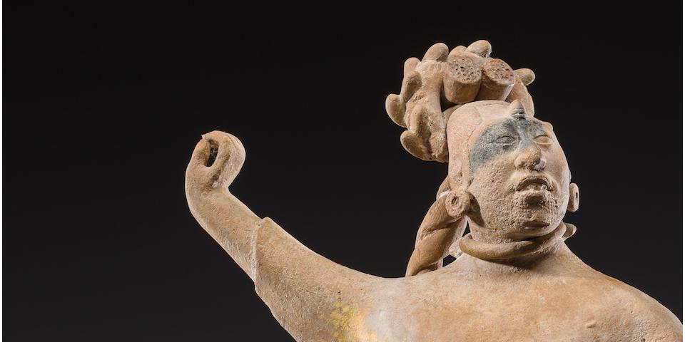 Large Maya Female Dignitary, Jaina, Late Classic, ca. A.D. 550-950