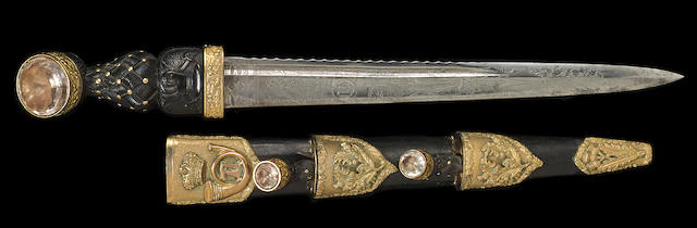 A silver-mounted Victorian officer's dirk of the Gordon Highlanders