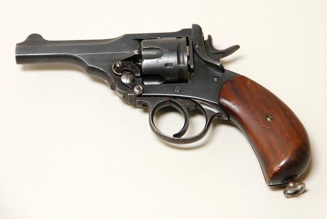 A Webley Mark V revolver
