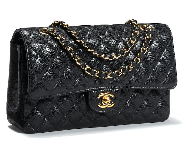 A Chanel black quilted leather 2.55 handbag