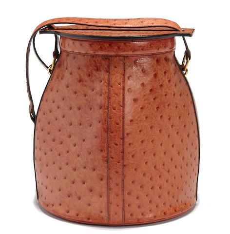 A rare Hermès ostrich Farming bag