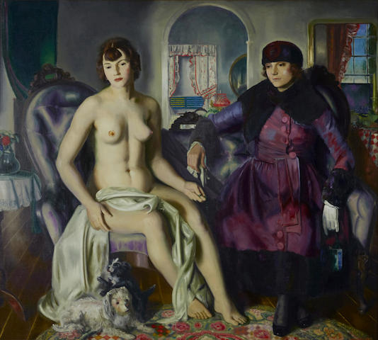 George Bellows (American, 1882-1925) Two Women 59 1/4 x 65 1/2in (Painted in 1924.)