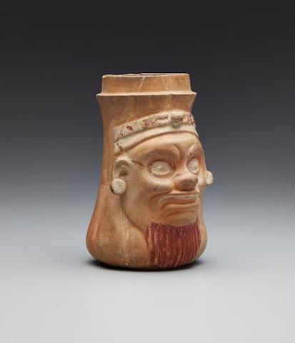 Maya Ek Chuah Effigy Vase, Quirigua, Late Classic, ca. A.D. 550-950