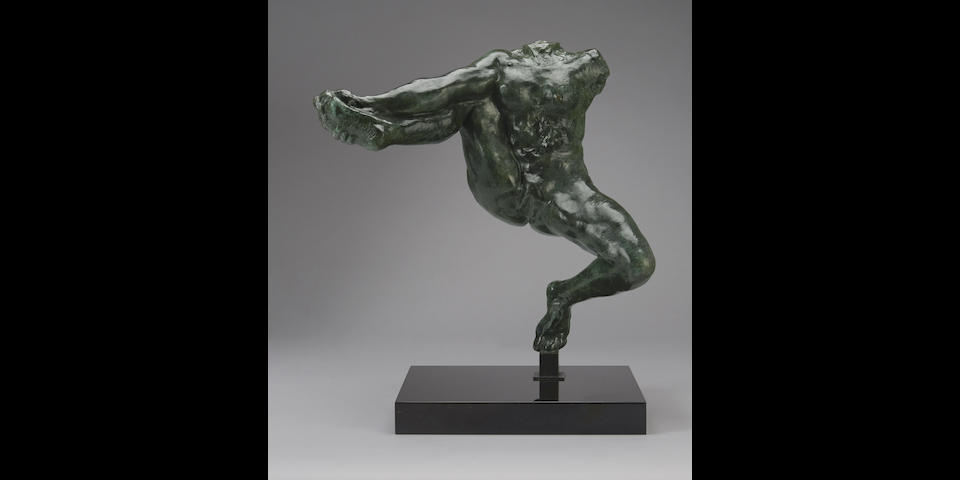 AUGUSTE RODIN (1840-1917) Iris, messagère des dieux, étude sans tête, petit modèle 16 1/8 in (41 cm) (height, including the bronze socle) (Conceived in 1890-1891, and cast by the Musée Rodin in this size between 1945 and 1965, the present work cast in 1964)