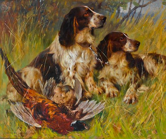 Arthur Wardle, RI (British, 1864-1949) End of the Day 30 x 25in. (76.2 x 63.5cm.)