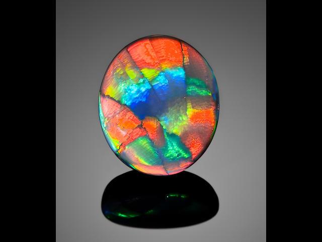 "Rare Black Opal with ""Ribbon"" Pattern--""Desert Sands"""