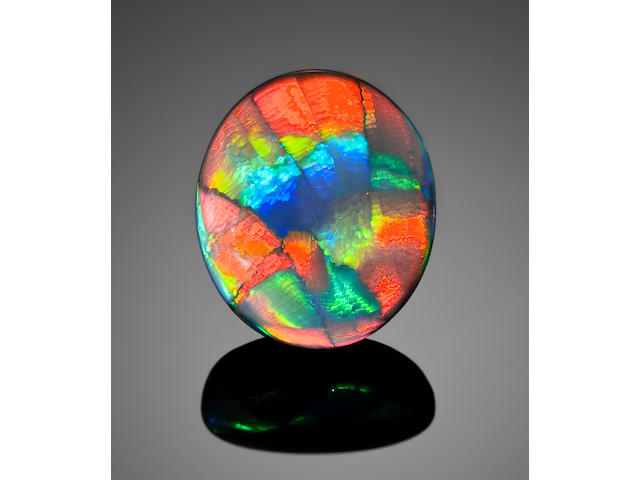 "Rare Black Opal with ""Ribbon"" Pattern--""Desert Sands"""