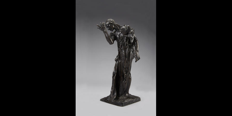 AUGUSTE RODIN (1840-1917) L'un des Bourgeois de Calais: Pierre de Wiessant, vêtu, réduction 17 1/2 in (44.4 cm) (height) (Conceived between 1887 and 1895, and in this reduced size in 1895. This bronze version cast by Alexis Rudier for the Musée Rodin between 1930 and 1945.)