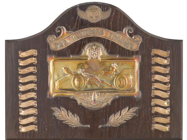 A Bluebird Trophy plaque, circa 1933,