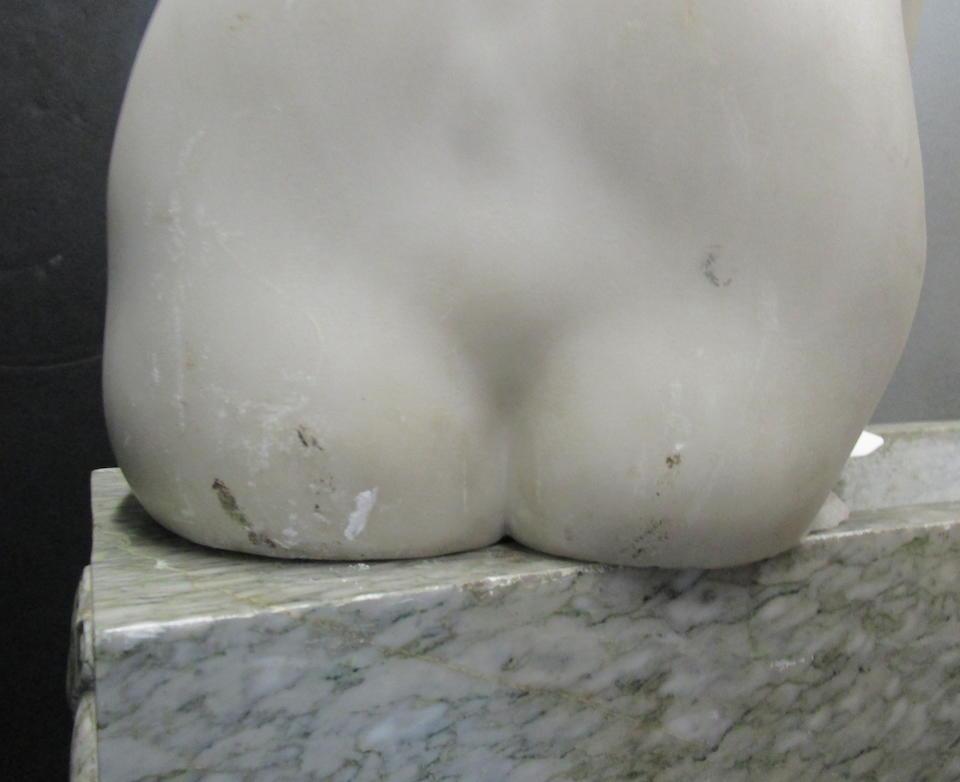 An Italian mixed marble figure Raniero (Ramielo) Aureli (Italian, 1885 -?)Romanelli Studiofirst quarter 20th century