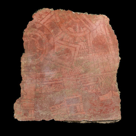 A Teotihuacan painted wall fragment