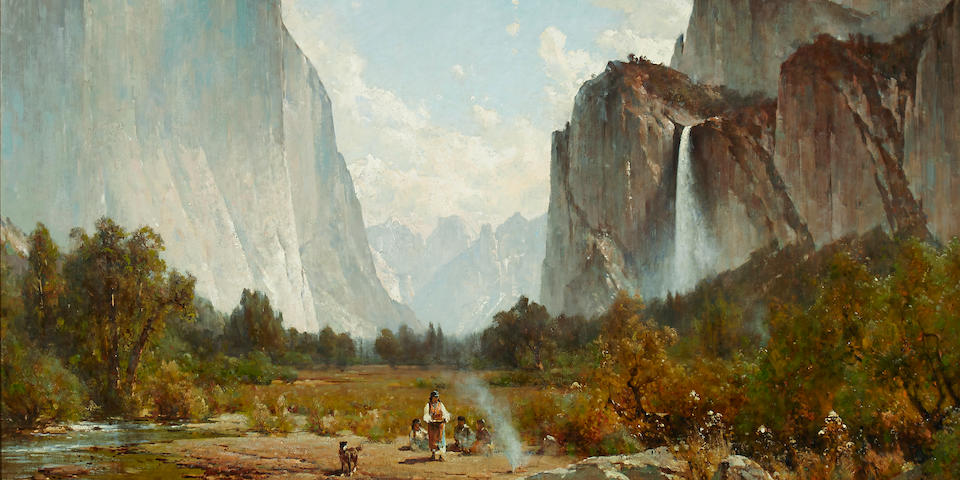 Thomas Hill (American, 1829-1908) Yosemite Valley 34 1/2 x 50 1/2in overall: 45 1/2 x 62 1/2in (Painted in 1890)