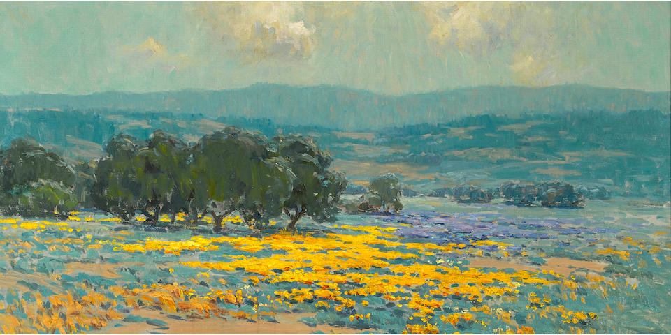 Granville Redmond (American, 1871-1935) California wildflowers 24 x 36in overall: 30 x 42in