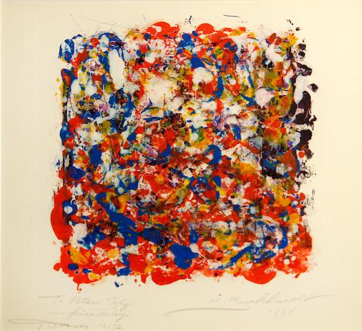 Hans Gustav Burkhardt (American, 1904-1994) Untitled, 1984 11 1/4 x 15in