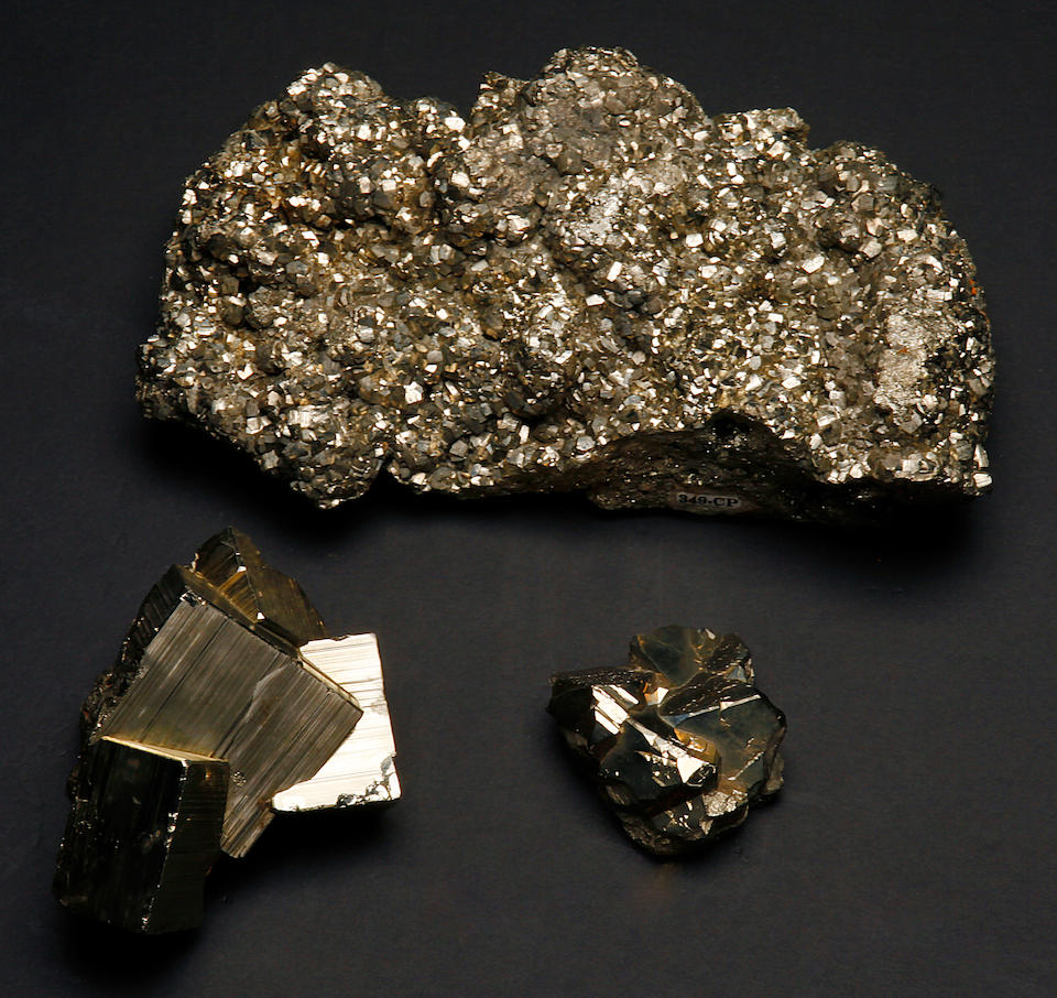 Group of Three Pyrites