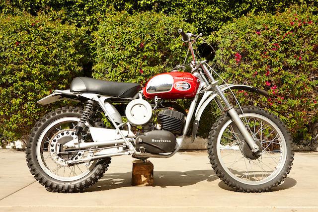 The ex-Steve McQueen,1971 Husqvarna 250cc Cross Frame no. M14473 Engine no. 254319