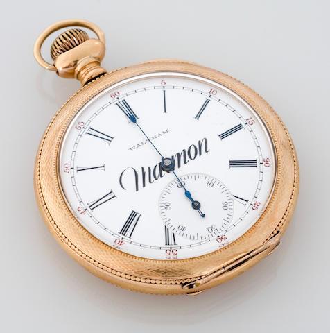 A Marmon branded Waltham pocketwatch, American, circa 1920s,