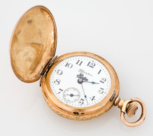 A Peerless branded Hampden pocketwatch, American, circa 1915,