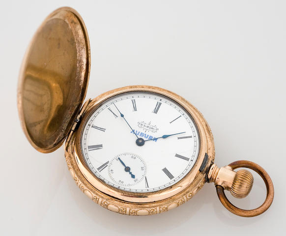 An Auburn branded Elgin pocketwatch, American, circa 1920s,