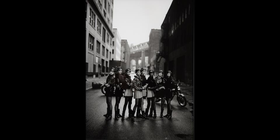 Peter Lindbergh (born 1944); The wild ones: Cindy Crawford, Tatjana Patitz, Helena Christensen, Linda Evangelista, Claudia Schiffer, Naomi Campbell, Karen Mulder & Stephanie Seymour, Brooklyn, New York (Vogue);
