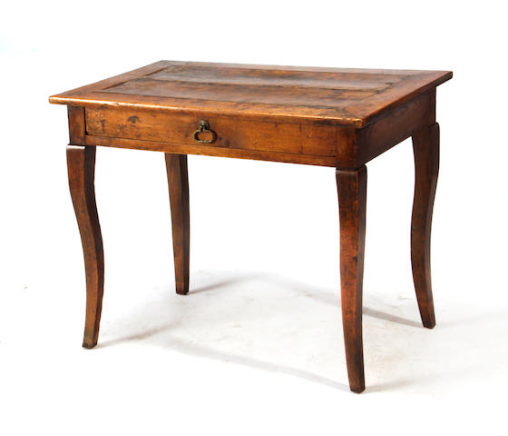 A Louis XV walnut single drawer table third quarter 18th century