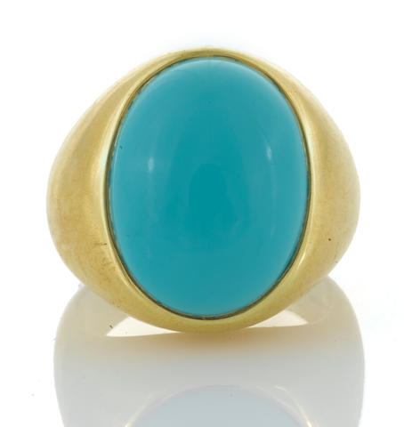 A turquoise ring, Bulgari