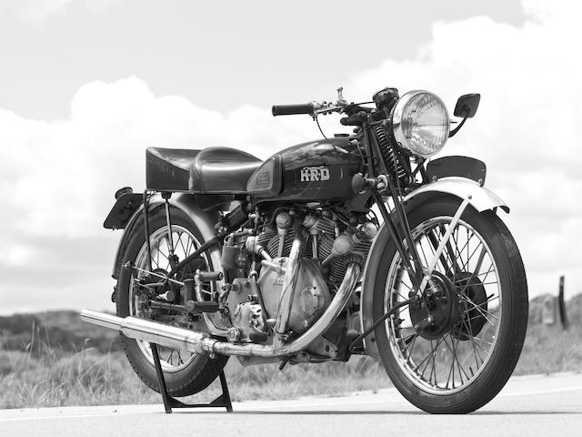 The very first Series B Vincent brought back to life,1946 Vincent HRD 1X Prototype Series B V-twin Frame no. F10AM1X1468