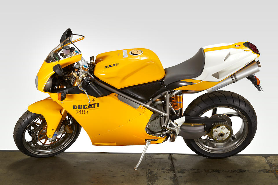 17 miles from new, one of only 15 imported into the USA,2002 Ducati 748 R Frame no. ZDM3H74R72B011435 Engine no. 8834013565Plaque no. 0427