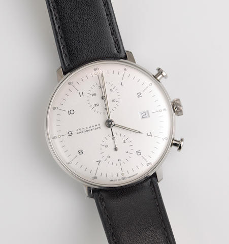 A Max Bill automatic chronoscope watch by Junghans, Germany,