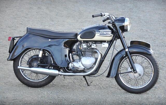 "1960 Triumph Tiger T100 ""Bathtub"" Frame no. H15044 Engine no. T100A-H15044"